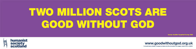 Banner 2 million Scots good without god
